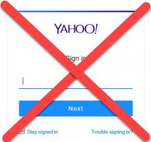 Do Not Use Yahoo Email